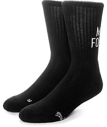 The Hundreds Life Black Crew Socks