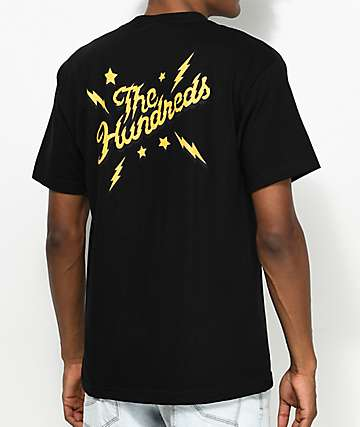 The Hundreds Lightning Slant camiseta negra