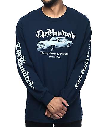 The Hundreds Los Cientos Navy Long Sleeve T-Shirt