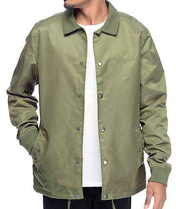 The Hundreds Milton chaqueta en color verde olivo