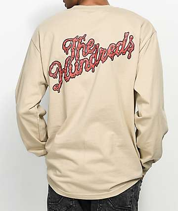 The Hundreds Ooze Slant Tan Long Sleeve T-Shirt