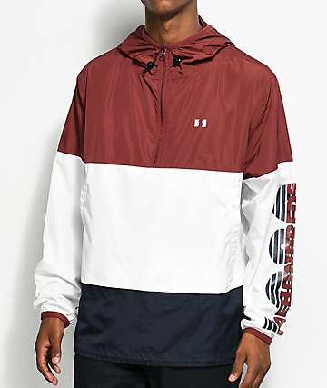The Hundreds Overland Burgundy Anorak Jacket