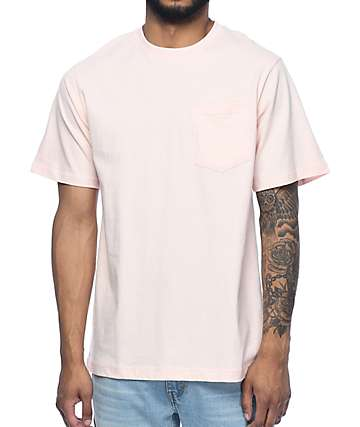 The Hundreds Perfect camiseta rosa con bolsillo