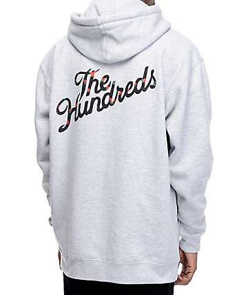 The Hundreds Rose Fill Slant sudadera con capucha en gris
