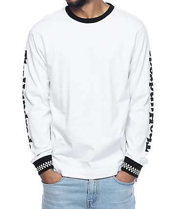 The Hundreds Rude Long Sleeve White T-Shirt