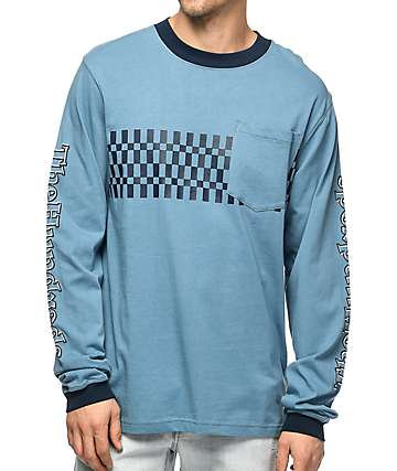 The Hundreds Shore Long Sleeve Blue T-Shirt