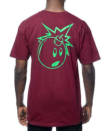 The Hundreds Simple Adam Burgundy T-Shirt