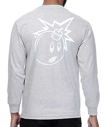 The Hundreds Simple Adam Heather Grey Long Sleeve T-Shirt