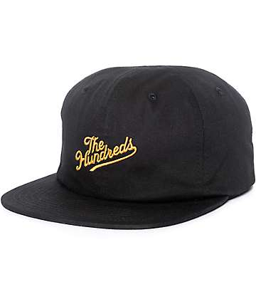 The Hundreds Slant Black Snapback Hat