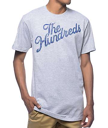 The Hundreds Slant Code Heather Grey T-Shirt