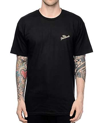 The Hundreds Slant Crest Black Pocket T-Shirt