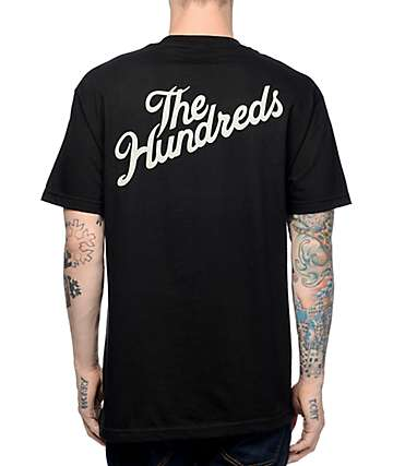 The Hundreds Slant Crest Pocket Black T-Shirt