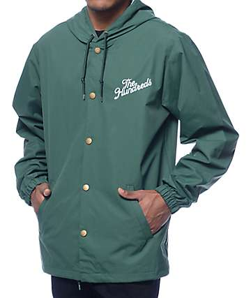 The Hundreds Slant Logo Forest Hooded Coach Jacket