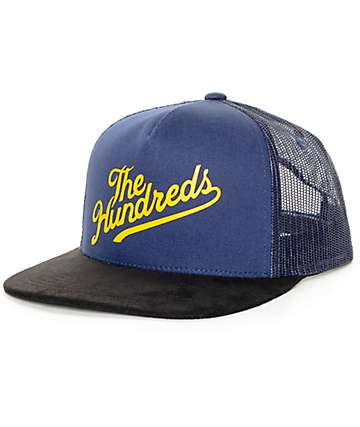 The Hundreds Slant Mesh Navy Snapback Hat