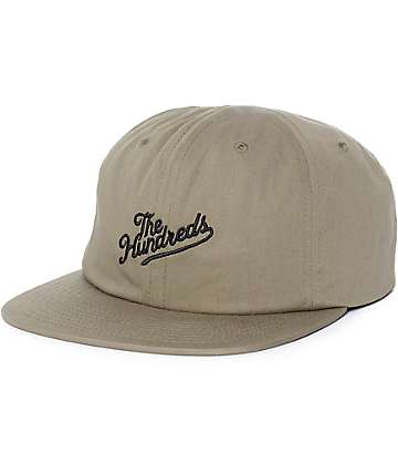 The Hundreds Slant gorra snapback en verde olivo