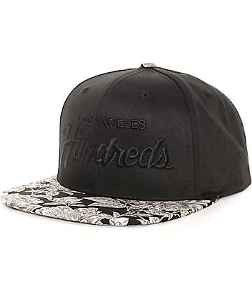 The Hundreds Team Floral Black Snapback Hat