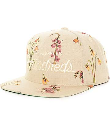 The Hundreds Team Floral Cream Snapback Hat
