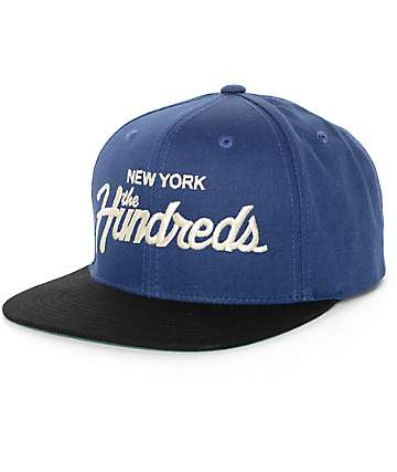 The Hundreds Team NY Navy & Black Snapback Hat