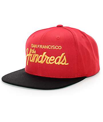 The Hundreds Team SF Red & Gold Snapback Hat