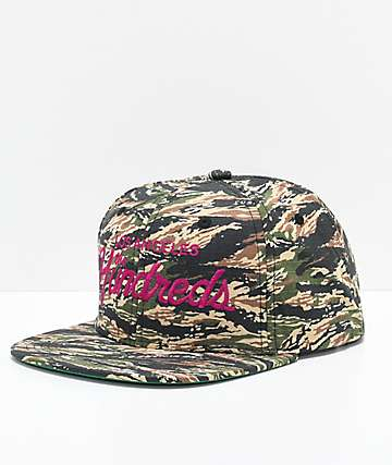The Hundreds Team Tiger Camo Snapback Hat