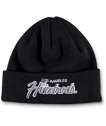 The Hundreds Team Two Black Beanie