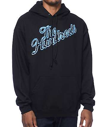 The Hundreds Thunder Slant Black Pullover Hoodie