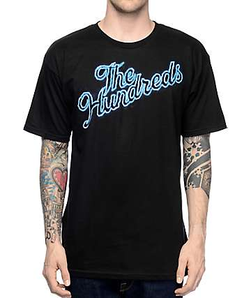 The Hundreds Thunder Slant Black T-Shirt