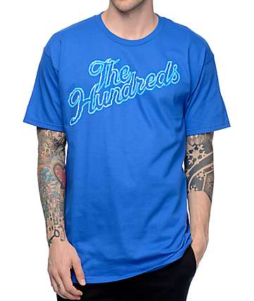The Hundreds Thunder Slant Royal Blue T-Shirt