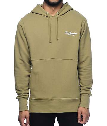The Hundreds Tone Dusty sudadera con capucha en color verde olivo