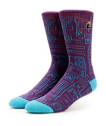 The Hundreds Trical Purple Crew Socks