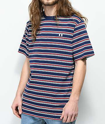 The Hundreds Vince Navy Striped T-Shirt