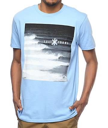 The Lost & Found Stacked Blue Wave T-Shirt