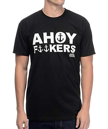 The Mad Hueys Ahoy Black T-Shirt