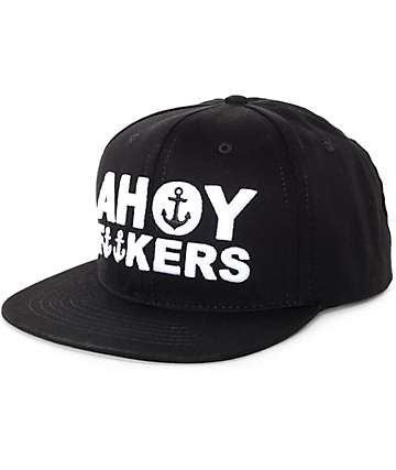 The Mad Hueys Ahoy Fuckers Black Snapback