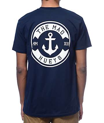 The Mad Hueys Anchor Crest Navy T-Shirt