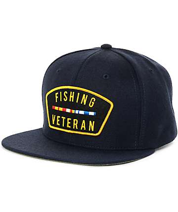 The Mad Hueys Veteran Navy Snapback Hat