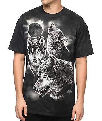 The Mountain Wolf Black T-Shirt