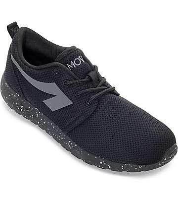 The People's Movement Crescent zapatos de malla en negro moteado