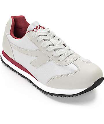 The People's Movement Grandview Grey & Burgundy Womens Shoes