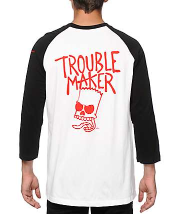 The Simpsons x Neff Trouble Maker Baseball T-Shirt