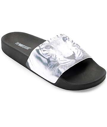The White Brand Tiger Slide Women's Sandals