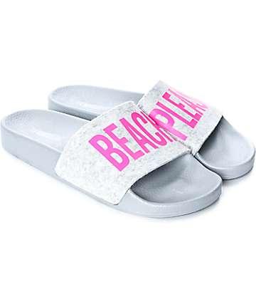 TheWhiteBrand Beach sandalias de felpa para mujeres