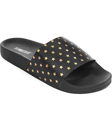 TheWhiteBrand Holy Mini Gold Stars Slide Women's Sandals