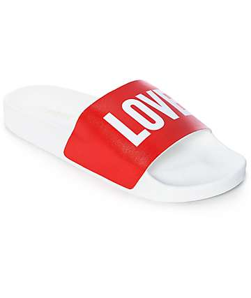 TheWhiteBrand Love Red Slide Women's Sandals