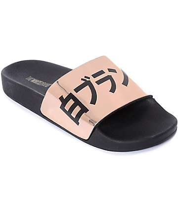 TheWhiteBrand Metallic Japan Slide Women's Sandals