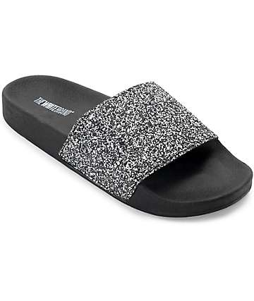 TheWhiteBrand Multi Glitter Slide Women's Sandals