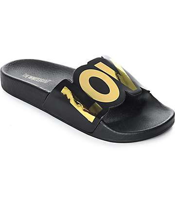TheWhiteBrand New Love Black Slide Women's Sandals