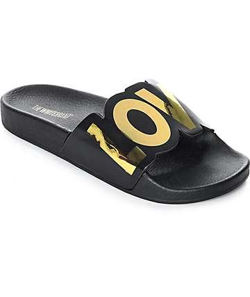 TheWhiteBrand New Love sandalias negras para mujeres