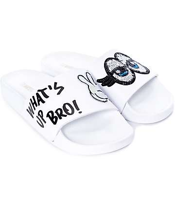 TheWhiteBrand What's Up Bro! Slide Women's Sandals
