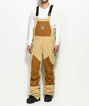 ThirtyTwo Basement Tan 10K Snowboard Bib Pants